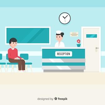 Recepção do hospitar