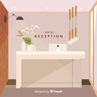 Recepção moderna do hotel