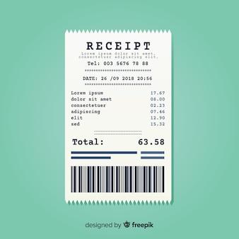 Recibo de pagamento plano moderno