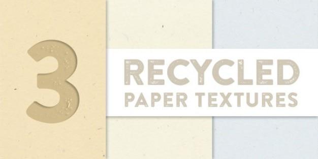 Reciclado coleção texturas de papel