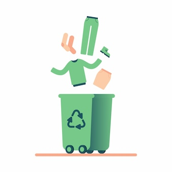 Reciclagem de roupas velhas