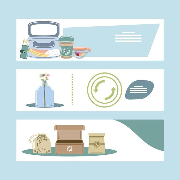 Reciclagem reutilizável e eco