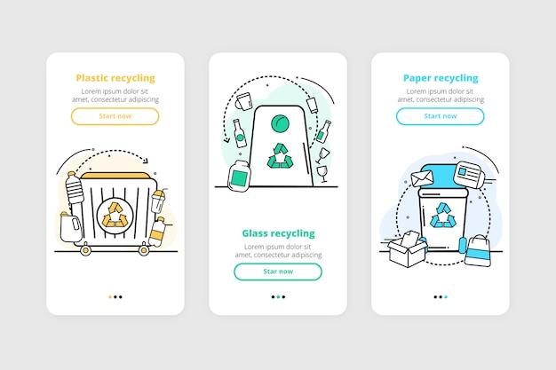 Reciclar coleção de telas de aplicativos integrados