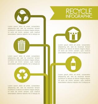Reciclar design sobre ilustração vetorial de fundo bege