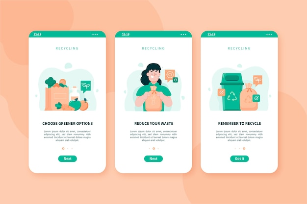 Reciclar telas de aplicativos integradas