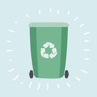 Recicle a lixeira, reutilize ou reduza o símbolo