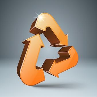 Recicle o símbolo 3d. produto ambientalmente amigável