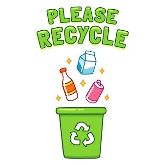 Recicle por favor o cartaz