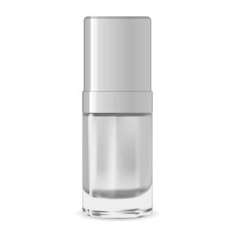 Recipiente cosmético de soro. modelo de design de embalagem