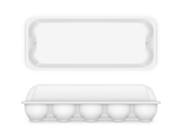 Recipiente de caixa de bandeja de comida em branco