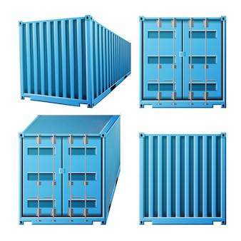 Recipiente de carga azul