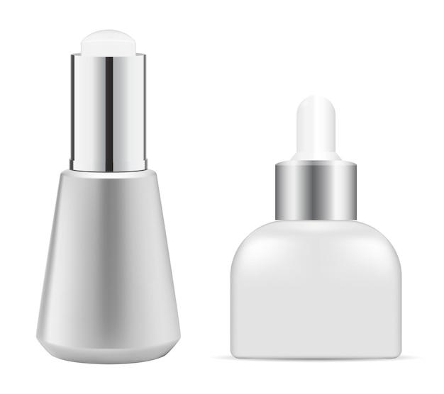 Recipiente de prata com essência cosmética