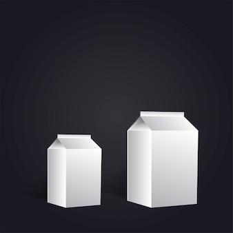 Recipiente de produtos de leite de papel