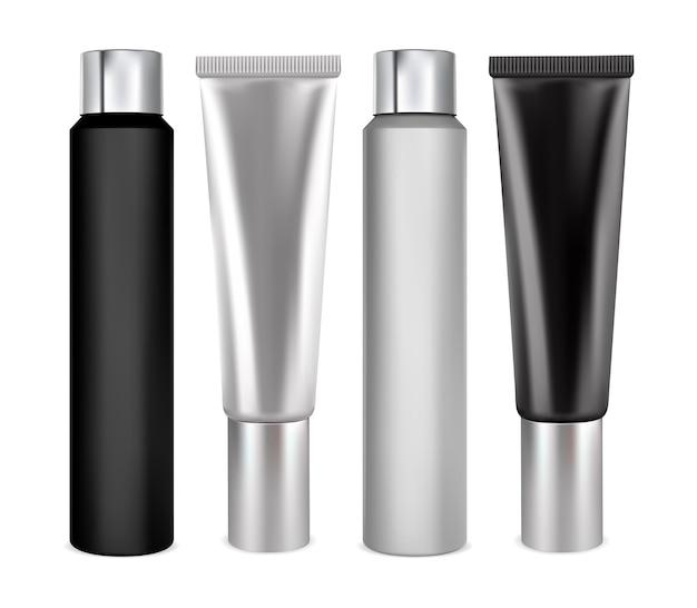 Recipiente de shampoo, tubo de creme, produto de beleza