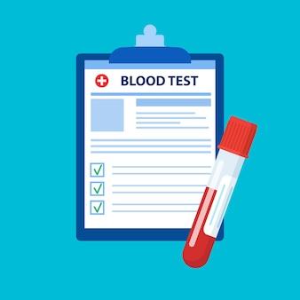 Recipiente de tubo de ensaio de sangue e análise de laboratório médico