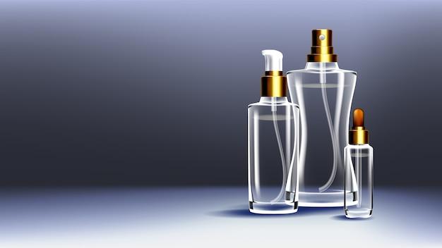 Recipiente de vidro cosmético