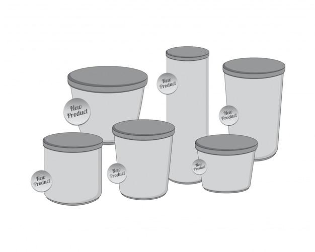 Recipiente para embalagem da indústria de produtos