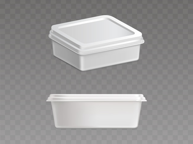 Recipiente plástico selado para produtos alimentares
