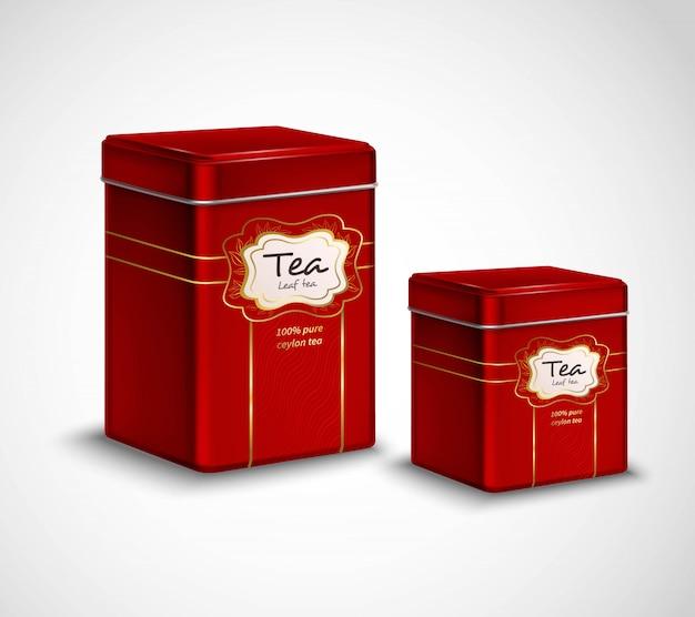 Recipientes de embalagem e armazenamento de metal de chá de alta qualidade