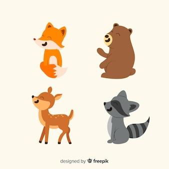Recolha de animais da floresta