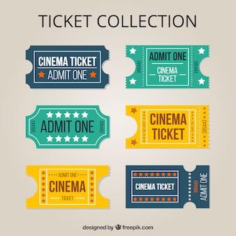 Recolha de bilhetes de cinema vintage