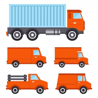 Recolha de caminhões colorido