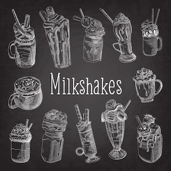 Recolha de milkshakes