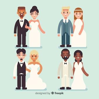 Recolha plana de recém-casados