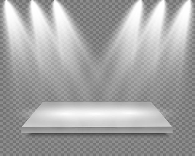 Recompensa realista estrela de vidro, fundo transparente. estrela no pedestal.