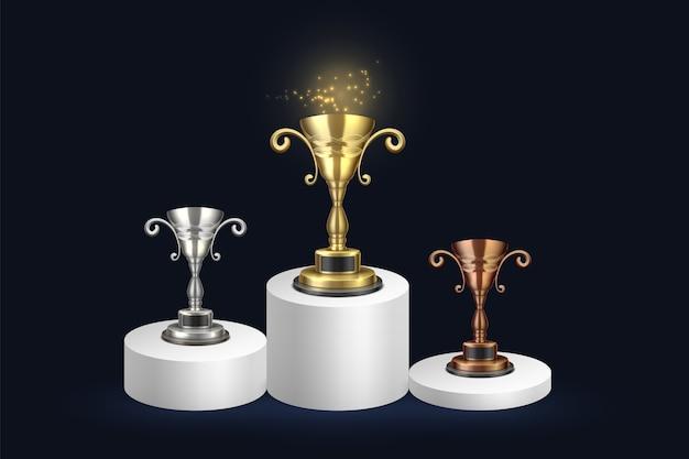 Recompensas do campeonato de ouro prata e bronze