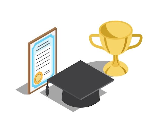 Recompensas para ilustrações bem sucedidas de formatura