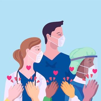 Reconhecimento de médicos e enfermeiros