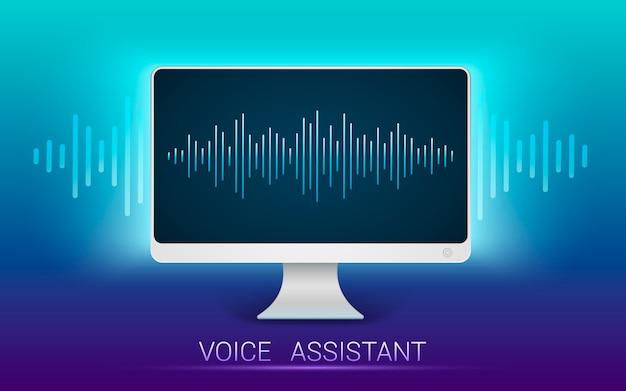 Reconhecimento de voz. assistente pessoal e reconhecimento de voz. v