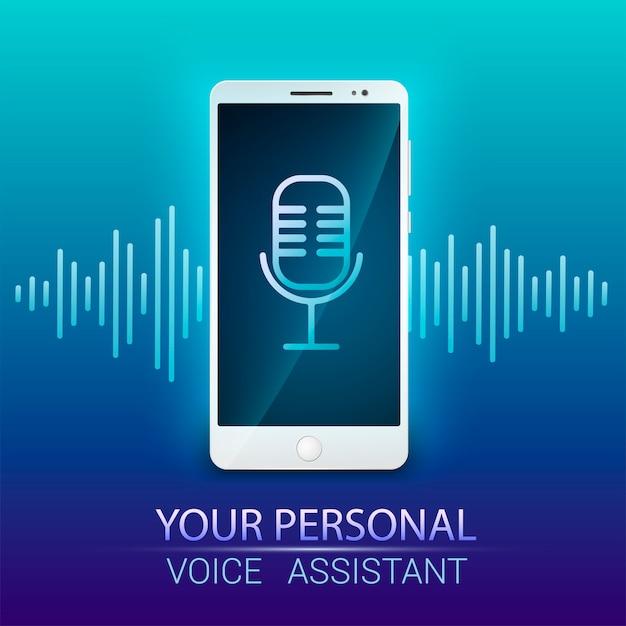 Reconhecimento de voz. assistente pessoal e reconhecimento de voz.