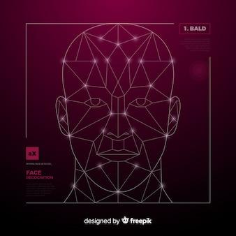 Reconhecimento facial de inteligência artificial