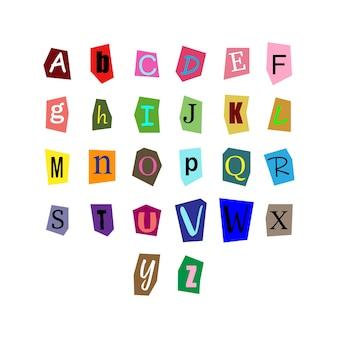Recortar letras de alfabeto para projetos decorativos