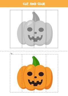 Recorte e cole a imagem da abóbora de halloween.
