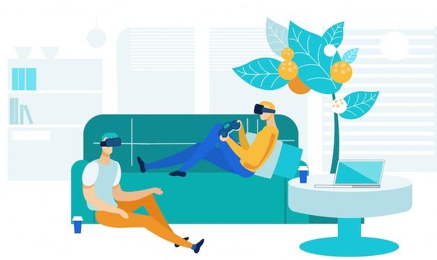 Recreação em realidade virtual