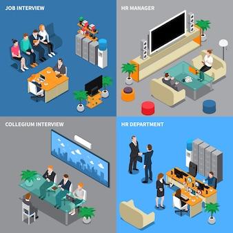 Recrutamento, contratação de pessoas isométricas