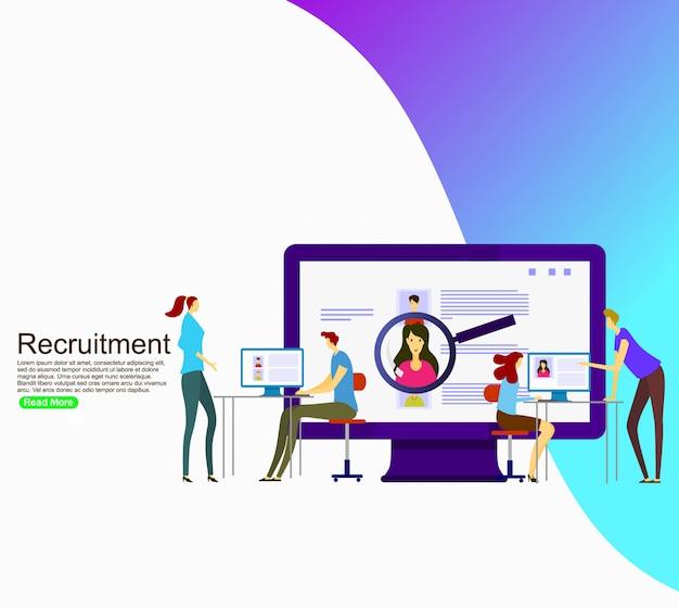 Recrutamento de negócios para o site. modelo