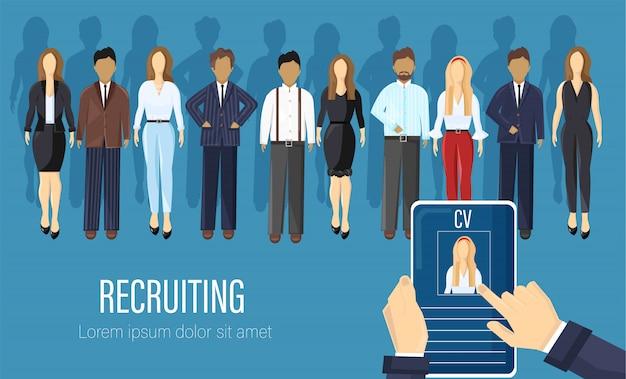 Recrutamento de pessoas de agência estilo simples