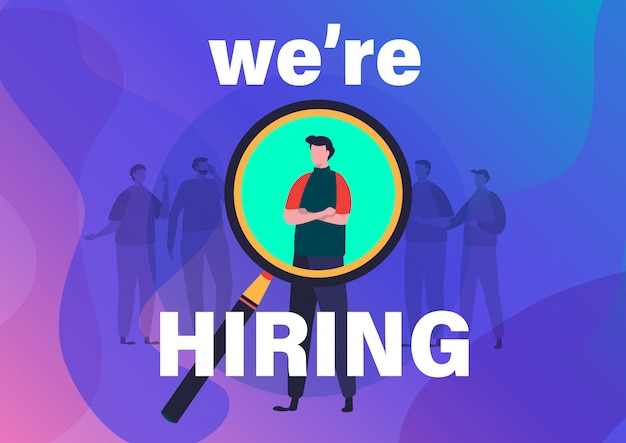 Recrutamento. estamos contratando você.