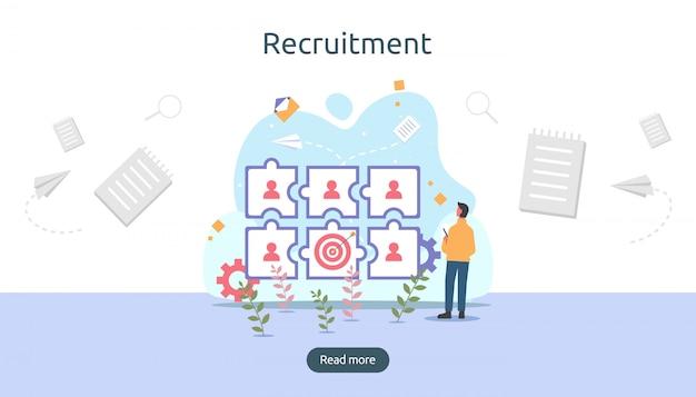 Recrutamento online.