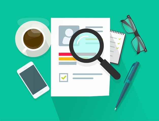 Recrutamento ou conceito de vetor de pesquisa de emprego
