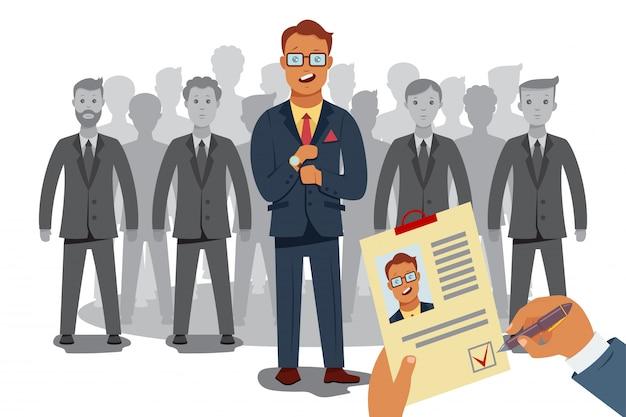 Recrutamento processam recursos humanos.