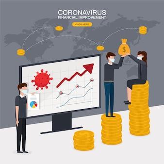 Recuperação financeira de coronavírus após crise