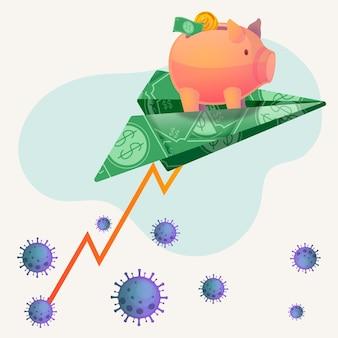 Recuperação financeira de coronavírus