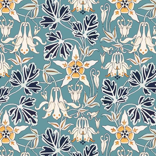 Recurso de design de estampas florais em estilo art nouveau columbino