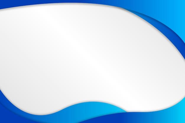 Recurso de design de moldura de forma fluida azul