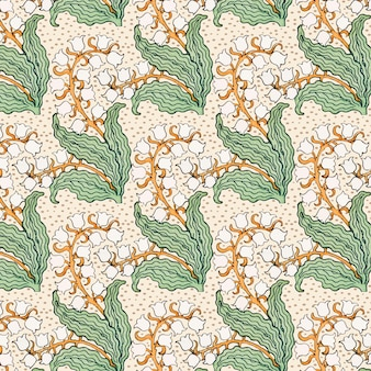 Recurso de design de padrão de flor de lírio do vale art nouveau